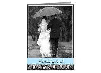 Danksagung Hochzeit Black Bluish 1