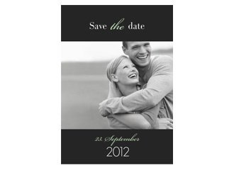 Save the Date BlacknGreen 1