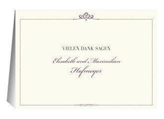 Danksagungskarte Hochzeit Royal