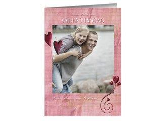 Karte zum Valentinstag Pink Heart