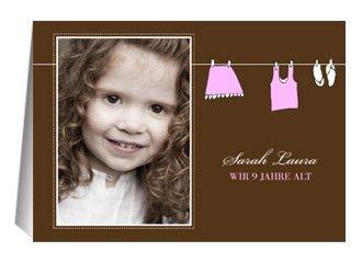 Einladung Kindergeburtstag Pink Clothes
