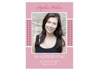 Einladungskarte Geburtstag Luisa