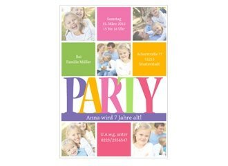 Einladung Kindergeburtstag Partytime