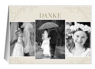 Danksagungskarte Hochzeit Elegant Creme 1