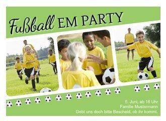 Einladung EM Party Bälle
