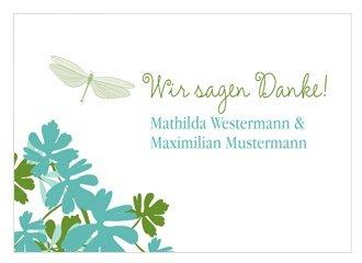 Dankeskarte Hochzeit Libelle Türkis