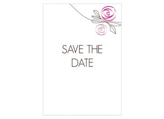 Save the Date Flower Pink