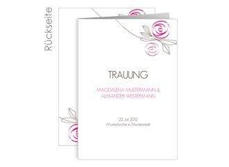 Kirchenheft Hochzeit Flower Pink
