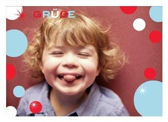 Grußkarte Blue Bubbles