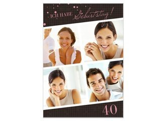 Einladungskarte 40. Geburtstag Brynn 1