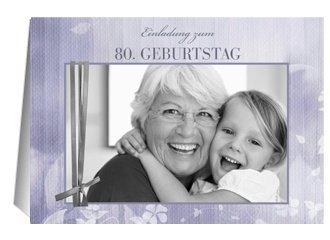 Einladung 80. Geburtstag Liliane