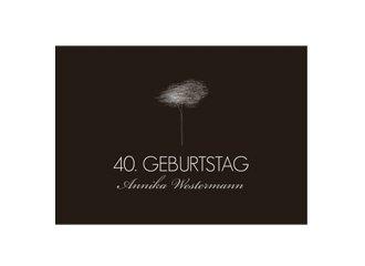 Einladungskarte 40. Geburtstag Tree Tale
