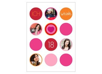 Einladungskarte 18. Geburtstag Lilly
