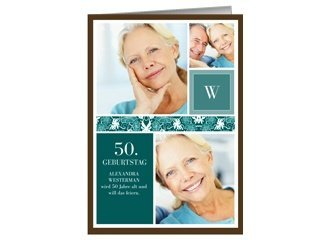 Einladung 50. Geburtstag Virginia