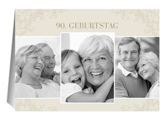 Einladung 90. Geburtstag Creme