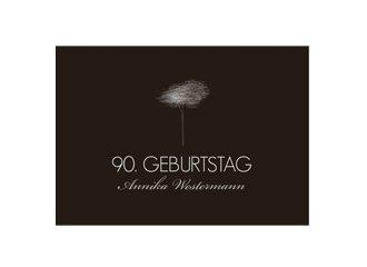 Einladungskarte 90. Geburtstag Tree Tale