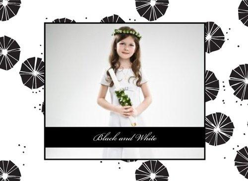 Fotobuch zur Kommunion Black & White