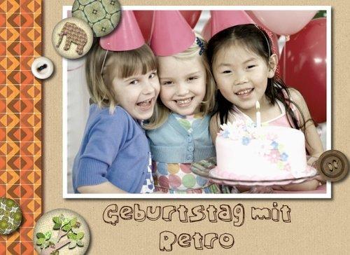 Fotobuch Geburtstag Retro