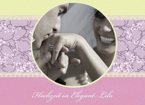 Fotobuch zur Hochzeit Elegant Lila