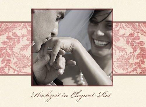 Fotobuch zur Hochzeit Elegant Rot