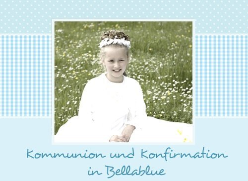 Fotobuch Kommunion und Konfirmation Bellablue