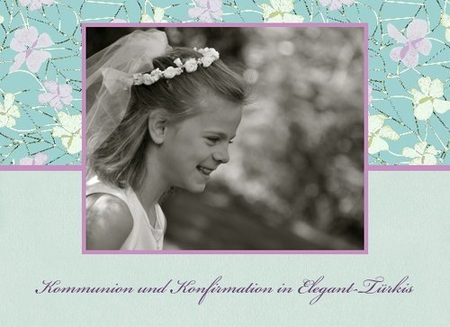 Fotobuch Kommunion und Konfirmation Elegant Türkis