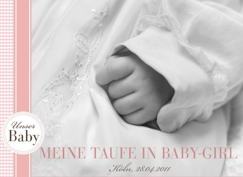 Fotobuch zur Taufe Baby Girl