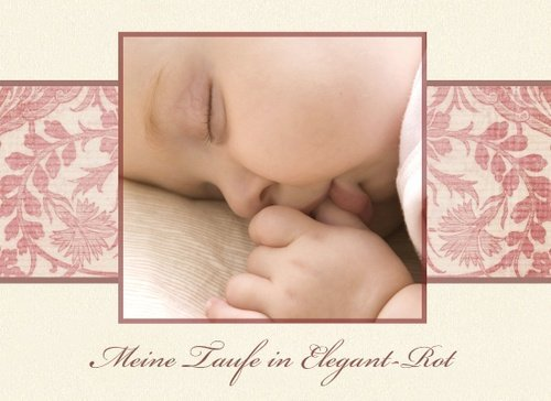 Fotobuch zur Taufe Elegant Rot