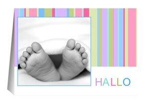 Geburtsanzeige Hello Stripes Mädchen