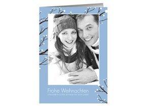 Weihnachtskarte Blue Trees