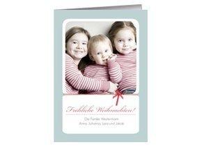 Weihnachtskarte Ice Blue