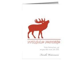Weihnachtskarte Röhrender Hirsch