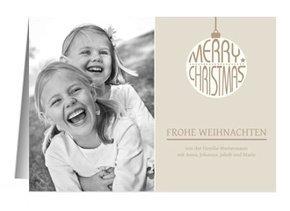 Weihnachtskarte Classic Creme