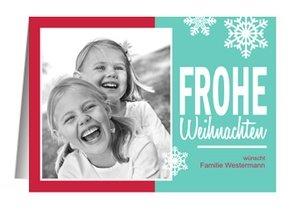 Weihnachtskarte Frohe Weihnachten 5