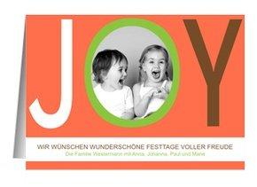 Weihnachtskarte Red JOY