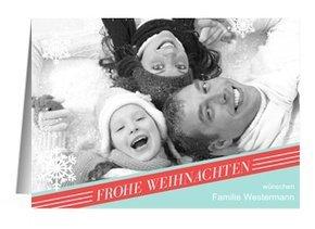 Weihnachtskarte Retro Snow