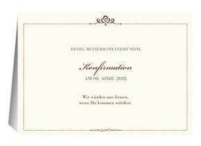 Einladung Konfirmation Royal
