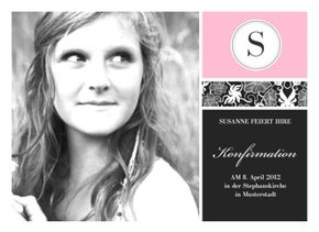 Einladungskarte Konfirmation Lilly