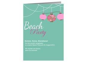 Einladung Strand Party
