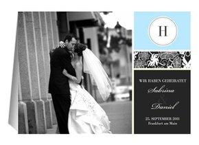 Hochzeit Danksagung Black Bluish 2