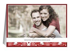 Karte zum Valentinstag Shiny Red