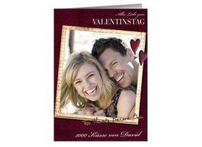 Karte zum Valentinstag Red Hearts