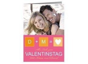 Karte zum Valentinstag Love