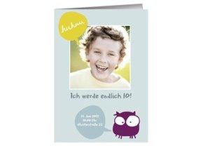 Einladung Kindergeburtstag Vio Owl