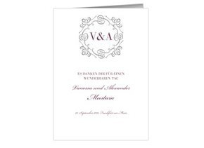 Danksagung Hochzeit Bianco