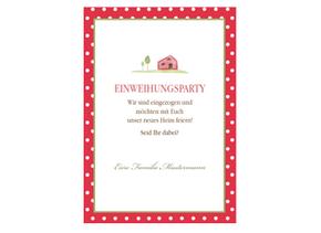 Einladung Einweihung Friendly Red