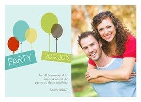 Einladungskarte Balloons