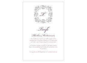 Einladungskarte Taufe Bianco