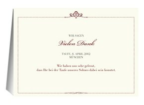 Danksagung Taufe Royal