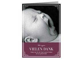 Dankeskarte Taufe Viola